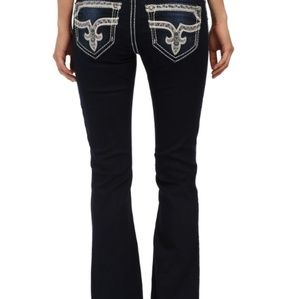 ROCK REVIVAL ROSEMARY BOOT CUT JEANS SIZE 30